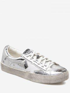 Letter Star Skate Shoes - Silver 39