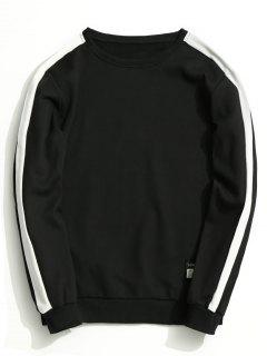 Fleeced Two Tone Sweatshirt - Black L