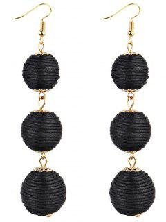 Pair Of Bon Bon Style Dangle Earrings - Black