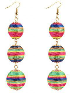 Pair Of Bon Bon Style Dangle Earrings