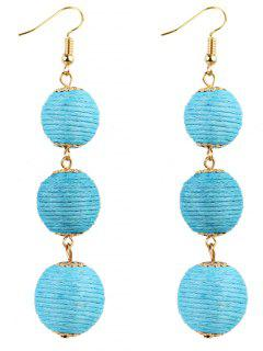 Pair Of Bon Bon Style Dangle Earrings - Sky Blue