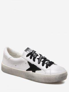 Letter Stars Stitching Skate Shoes - White 39