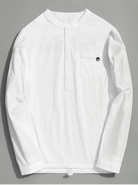 best Half Button Letter Shirt - WHITE 2XL Mobile