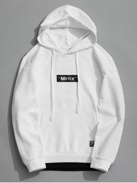 Pullover Graphic Mirror Hoodie - Blanco XL Mobile