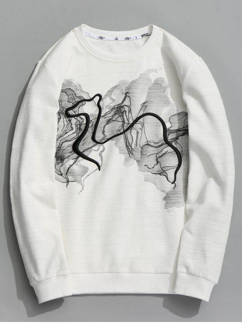 Abstract Print Sweatshirt - Weiß 3XL Mobile