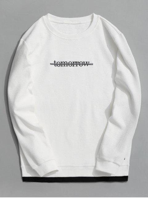 shop Tomorrow Textured Sweatshirt - WHITE XL Mobile