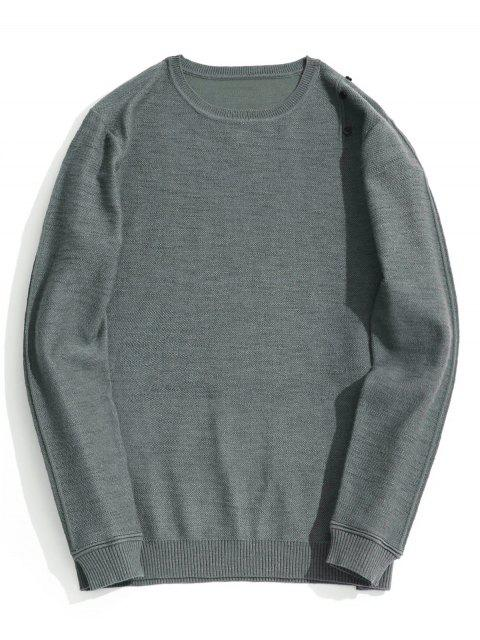 sale Button Embellished Knitwear - GRAY 2XL Mobile
