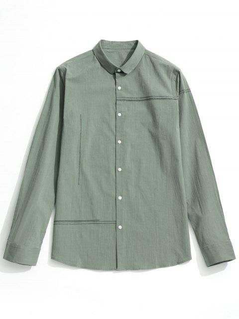 lady Button Up Shirt - LIGHT GREEN 2XL Mobile