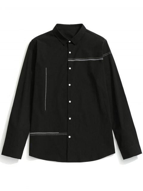 hot Button Up Shirt - BLACK 2XL Mobile