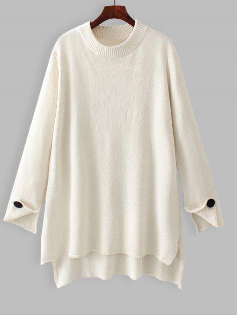 Pull Oversize Haut-Bas - Blanc S Mobile