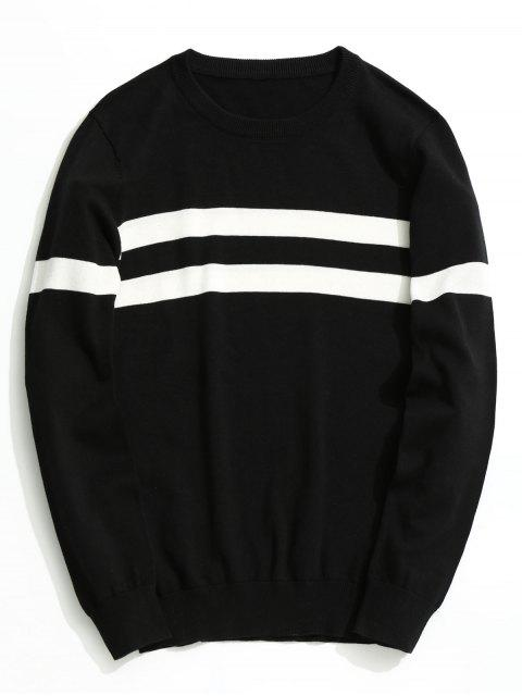 affordable Striped Knitwear - BLACK 3XL Mobile