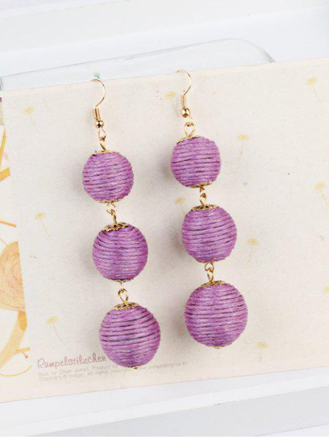 Par de Pendientes Colgantes de Estilo Deshuesado - Púrpura  Mobile