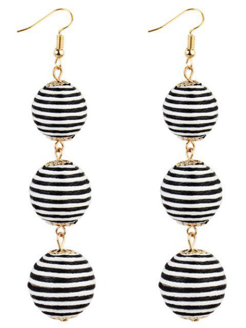 Paire de Boucles d'Oreilles Pendantes Motif Boules - Blanc-Noir  Mobile