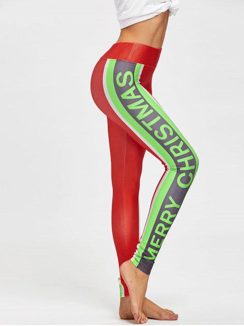 Merry Christmas Farbblock Leggings - COLORMIX  M Mobile