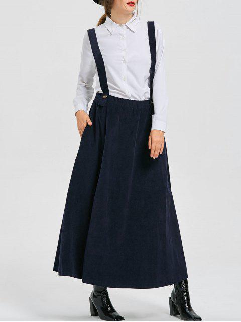 ladies Swing Suspender Skirt - DEEP BLUE S Mobile