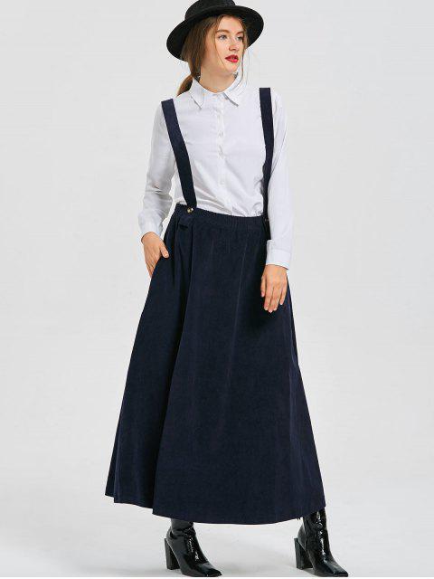 latest Swing Suspender Skirt - DEEP BLUE XL Mobile