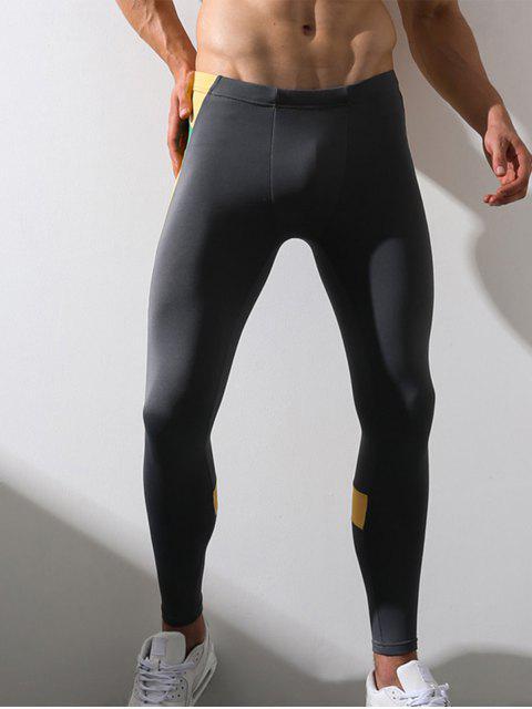 Pantalon de Gymnastique Extensible en Molleton Elastique à Taille - gris L Mobile