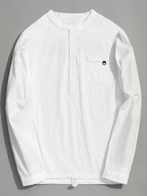 Half Button Letter Shirt