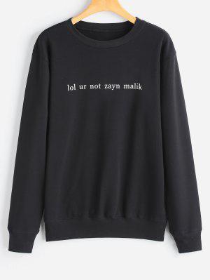 Buchstabe Sweatershirt