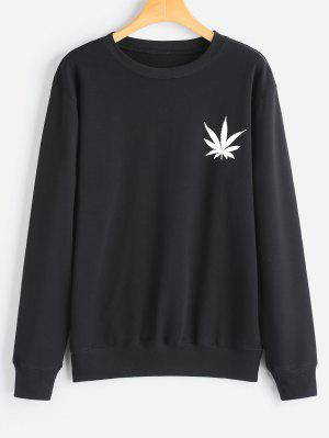 Sweat-shirt à Feuille Imprimée