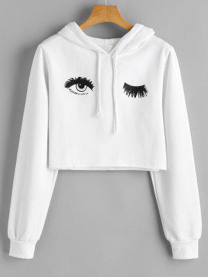 Eye Print Cropped Hoodie