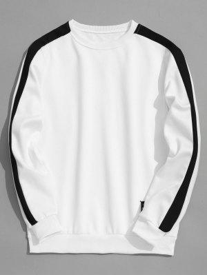 Fleeced Two Tone Sweatshirt