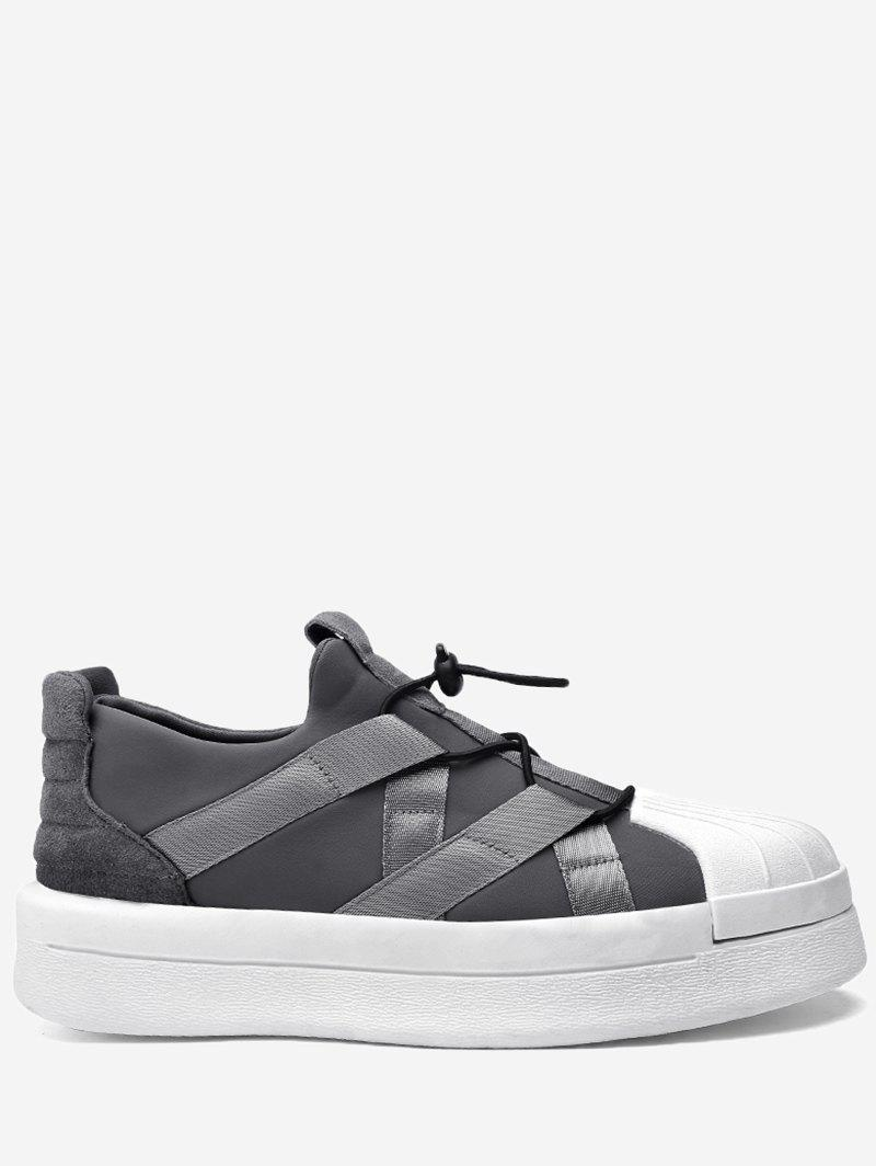 Tie-up Shell Toe Athletic Skate Shoes