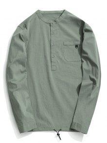 نصف زر إلكتروني قميص - اخضر فاتح 3xl