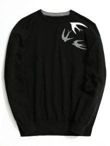 Swallow Jacquard Knitwear - Negro Xl