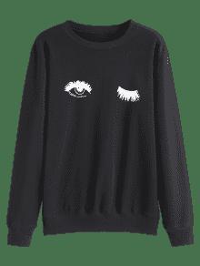 Print Xl Tunic Eye Negro Sudadera 8URaqzF