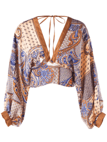 fa7ff4db6e087b 29% OFF  2019 Open Back Batwing Sleeve Crop Top In MELON YELLOW