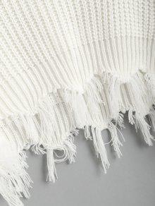 Bordado Blanco V Desgarrado En Floral Con Jersey Jersey De Cuello OqU6Aw
