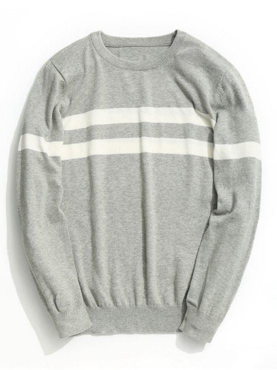 lady Striped Knitwear - GRAY 3XL