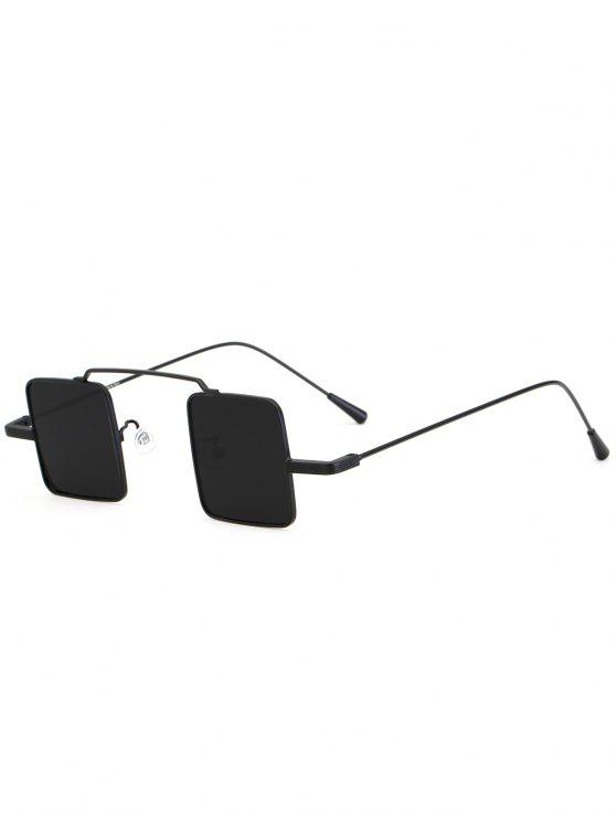 hot Vintage Square Shape Full Frame Sunglasses - DOUBLE BLACK