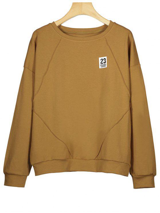 Sweat-shirt en Coton à Patch - Brun M