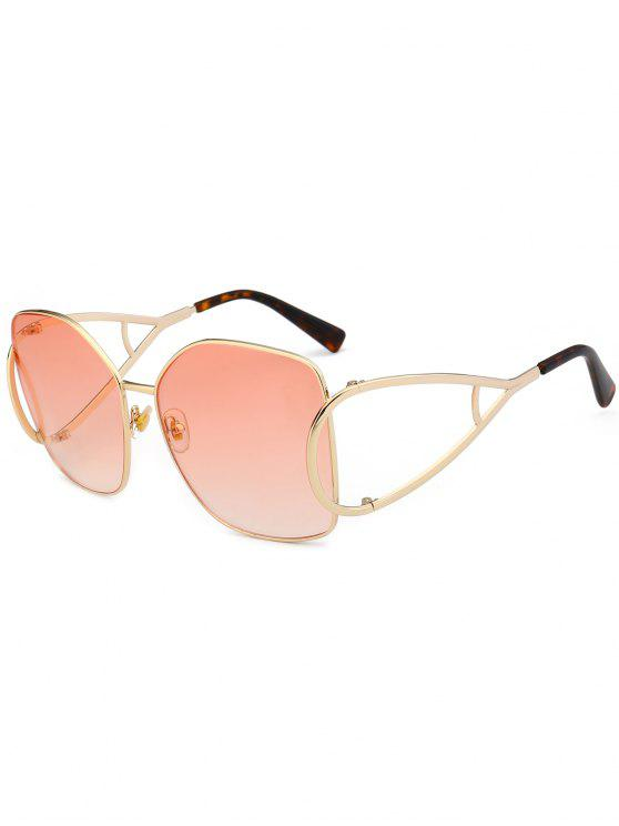 sale UV Protection Hollow Out Embellished Oversized Sunglasses - LIGHT PINK