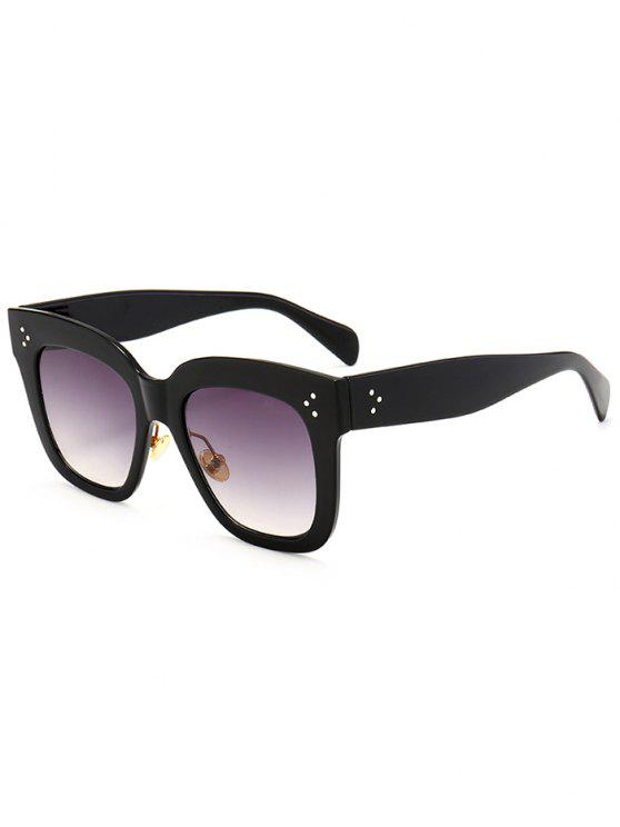 women Anti UV Full Frame Square Sunglasses - BLACK FRAME+GREY LENS