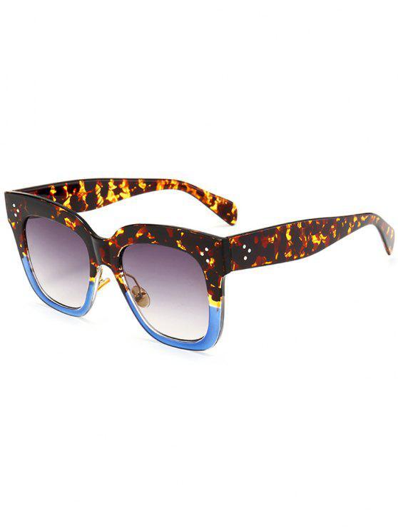 fancy Anti UV Full Frame Square Sunglasses - BLUE+BLACK