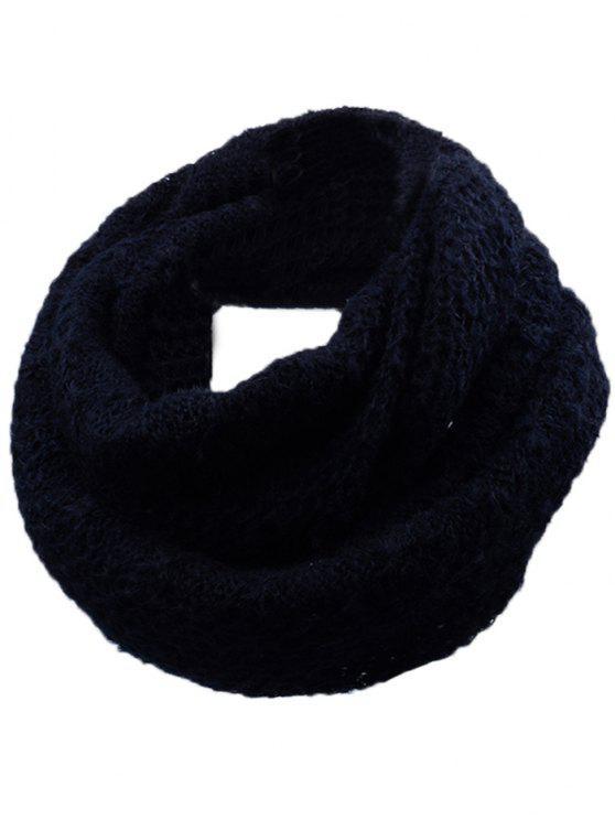 Écharpe en Tricot Épais Motif Losange pour Extérieur - Noir