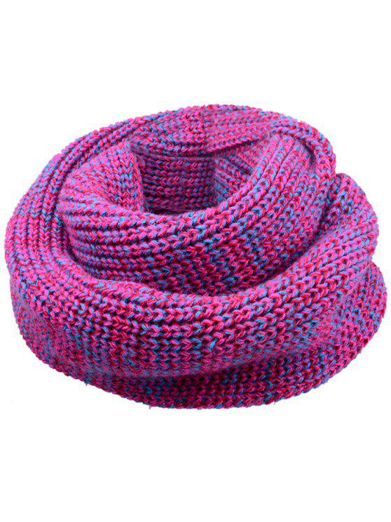 fashion Soft Color Splice Crochet Knitted Scarf - TUTTI FRUTTI