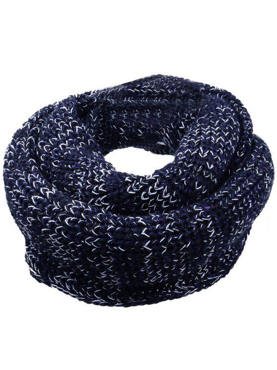 Lenço de malha de malha Crochet de cor macia - Preto