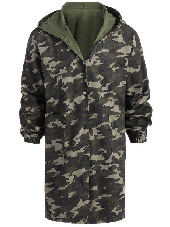 Cappotto di camuffamento a lunga durata reversibile - verde  XL