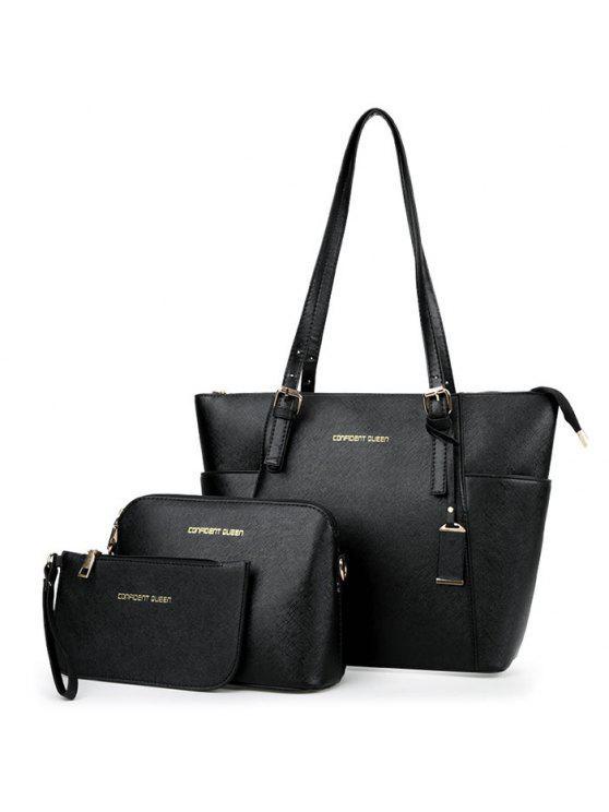 3 قطعة إلكتروني حقيبة مجموعة - أسود