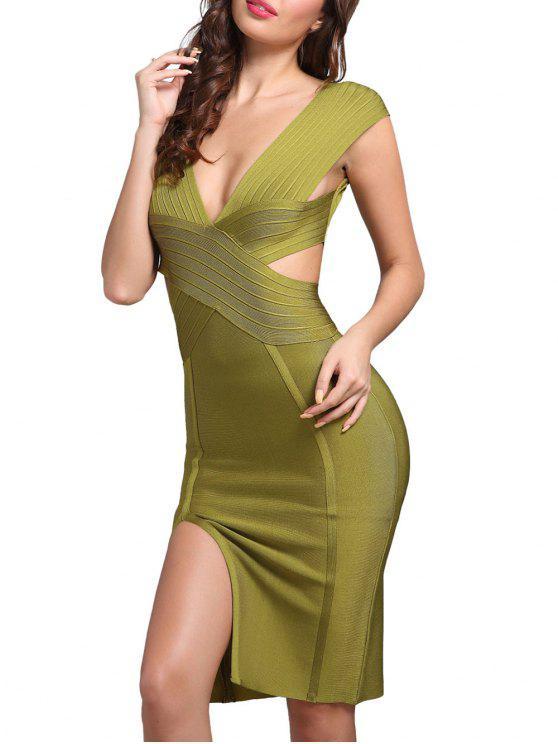 Kleid grun tiefer ausschnitt
