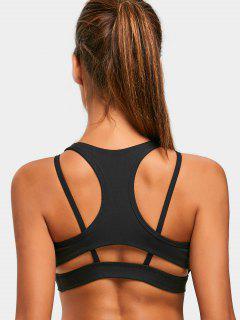 Strappy Racerback Yoga Bra - Black S