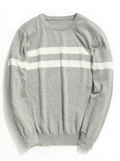 Striped Knitwear - Gray 2xl