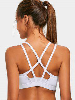 Padded Back Strappy Sporty Bra - White S