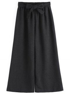 Ninth Bowknot Wide Leg Pants - Black