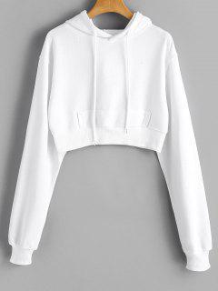 Sweat à Capuche Avec Bretelles Et épaules Dénudées - Blanc S