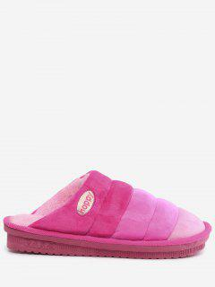 Slip On Striped Indoor Slippers - Pink Size(40-41)